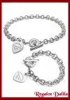 Set Pulsera y Gagantilla Tiffany Corazon